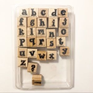 Stampin' Up Retired 1997 Alphabet Attitude Lower